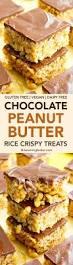 chocolate peanut butter rice crispy treats vegan gluten free