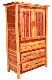 Cedar Bedroom Furniture Log Armoire Rustic Furniture Cabin Bedroom Furnishings