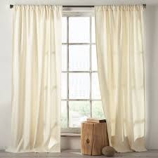 Black Ivory Curtains Linen Cotton Curtain Ivory West Elm