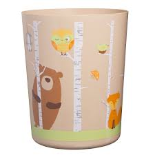 Bathroom Accessory Sets With Shower Curtain by Amazon Com 6pc Set Unique Cute Forest Friends Complete Bathroom