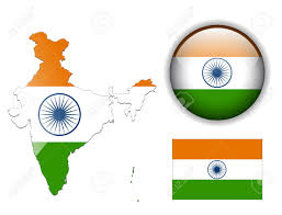 India On Map by India Indian Flag Map And Glossy Button Royalty Free Cliparts