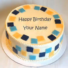 make birthday more special by writing name on cake birthday