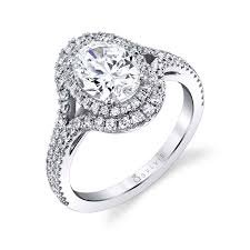 double engagement rings images Oval shaped double halo engagement ring s1879 sylvie jpg