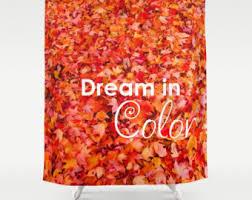 fall shower curtain etsy