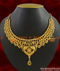 necklace designs images Nckn283 grand bridal choker necklace design party wear imitation jpg
