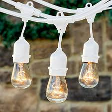 Edison Bulb Patio String Lights Brightech Ambience Pro With Weathertite Technology Outdoor