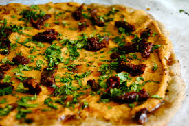 Hummus Kitchen Hummus U0026 Sun Dried Tomato Pizza With Balsamic Vinegar Reduction