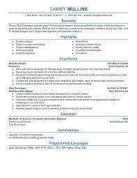 Entry Level Interior Design Resume Sample Web Designer Resume Entry Level Web Developer Resume