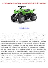 kawasaki kfx 90 service manual repair 2007 20 by elsiecress issuu