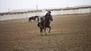 Horse With American Flag Buzkashi Npr