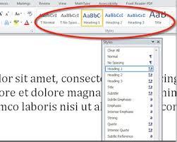 membuat daftar isi table of contents di word 2007 cara membuat daftar isi otomatis di microsoft word