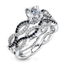 black diamond wedding set engagement rings black diamond trend s jewelry
