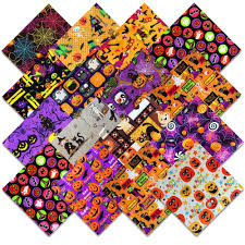 halloween jelly roll fabric 102 halloween themed pre cut charm pack 5 x 5 inches quilt fabric