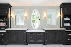 black vanity transitional bathroom baron