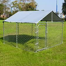 amazon com giantex large pet dog run house kennel shade cage