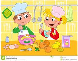 cuisine dessin animé dessin de cuisine 2 cuisson de gar231on et de fille