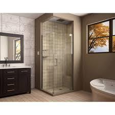dreamline elegance 30 in d x 30 in w frameless pivot shower