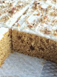 pumpkin spice sheet cake together as family