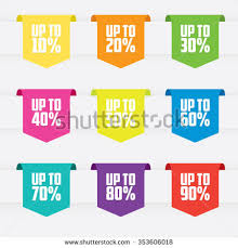 ribbon for sale sale ribbon labels stock vector 353606018