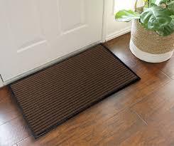 Hardwood Floor Mat Flooring Entrance Floor Mats In Brown With Wicker Planter Also
