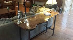 Walnut Sofa Table by Live Edge Walnut Sofa Table By Nwdesigns Lumberjocks Com