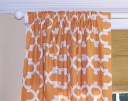 Orange Patterned Curtains Sumptuous Orange Patterned Curtains Lovely Ideas Drapery For The