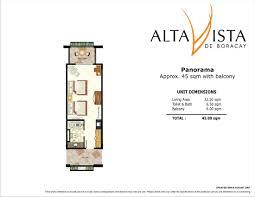 The Panorama Floor Plan by Details Dmci Alta Vista De Boracay Malay Aklan Skyland Homes