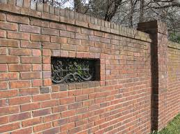 Home Design Elements Sterling Va Walls And Fences As A Design Element Brick Fence Design