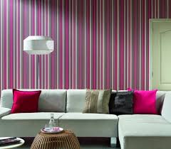 Pink Sectional Sofa Living Room Striped Colorful Pink Wallpaper In Small Living Room