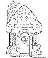 printable gingerbread house coloring coloring pages