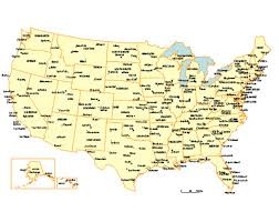 map usa states 50 states with cities usa 50 state major city and capitals map powerpoint maps