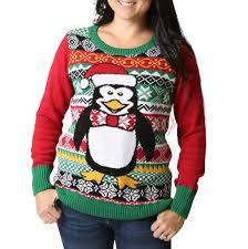 women u0027s penguin light up ugly christmas sweater u2013 ugly christmas