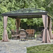 12 ft x 16 ft year round use gazebo with uv blocking panels canopy