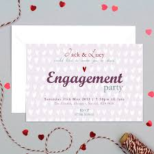 Betrothal Invitation Cards Personalised Engagement Party Invitation By Molly Moo Designs
