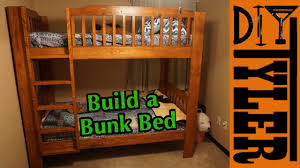diy bunk bed youtube