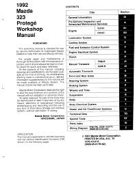 mazda protege 1992 workshop manual pdf