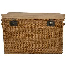 antique french wicker trunk at 1stdibs