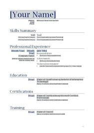 simple resume format in word file free download 5 simple resume format for freshers in word file resume templates