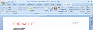 creating rtf templates using the template builder for word