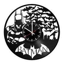 batman handmade vinyl record wall clock fun gift vintage unique