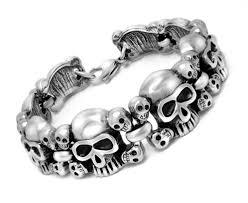 mens skull bracelet images Wholesale mens stainless steel skull bracelet jpg
