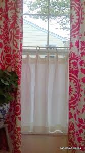 Linen Cafe Curtains Country Cafe Curtains Linen Cafe Curtain Scalloped Pleat By