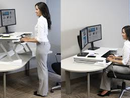 sit stand computer desk ergotron workfit t sit stand desktop workstation radius office