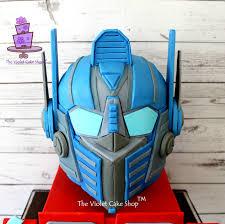 optimus prime cakes transformers optimus prime 3d helmet cake cakecentral