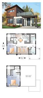 modern home floor plan plan 80878pm dramatic contemporary with second floor deck
