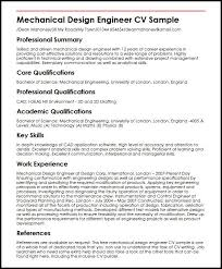 Sample Of Key Skills In Resume by Mechanical Design Engineer Cv Sample Myperfectcv
