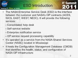 nasa enterprise service desk enterprise service desk esd ppt download