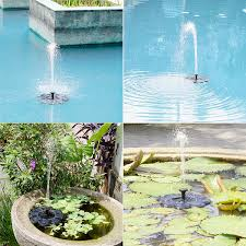 upgraded 1 6w solar fountain pump for bird bath tekhome sun