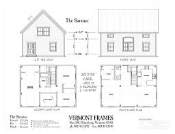 a frame cottage floor plans floor plan post u0026 beam home plans in vt timber framing floor