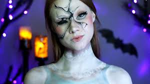 creepy broken doll makeup tutorial youtube